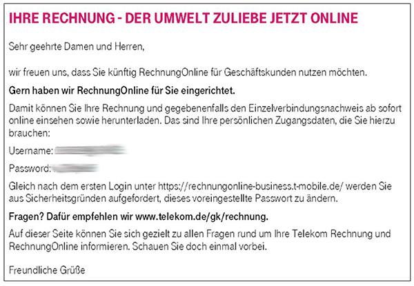 Rechnung Online verwalten | Telekom Geschäftskunden